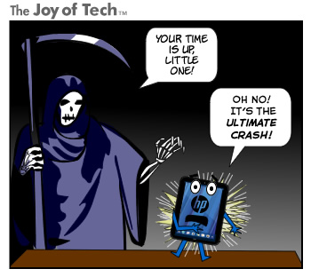 The Joy of Tech comic... TouchPad, this was your life.