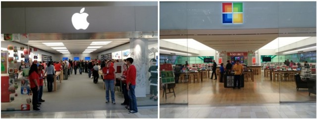 The Apple Store vs. The Microsoft Store [Photo] | Cult of Mac