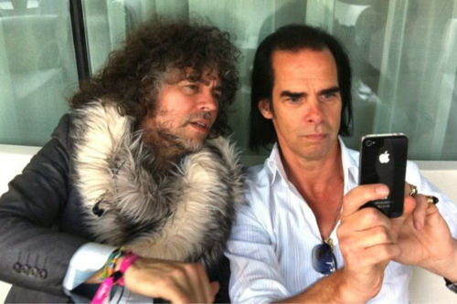 Adventures of a Gentleman Rogue | Wayne Coyne and Nick Cave playing with an iPhone....