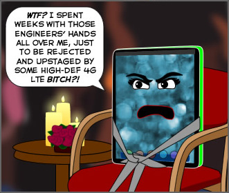 The Joy of Tech comic... Bachelor iPad: The Prototypes Tell All.