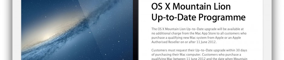 Apple - See if you qualify for a free OS X Mountain Lion upgrade.