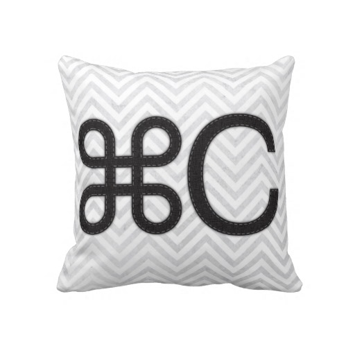Copy Apple C Mac Pillow from Zazzle.com