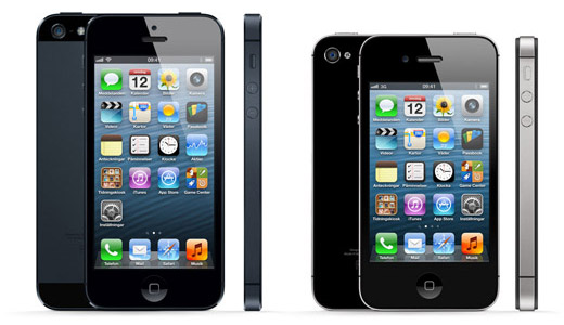 iPhone 5 och iPhone 4s