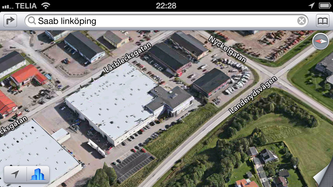 Apple Maps 3D Saab Linköping