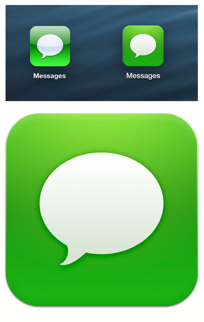 Messages ios new style