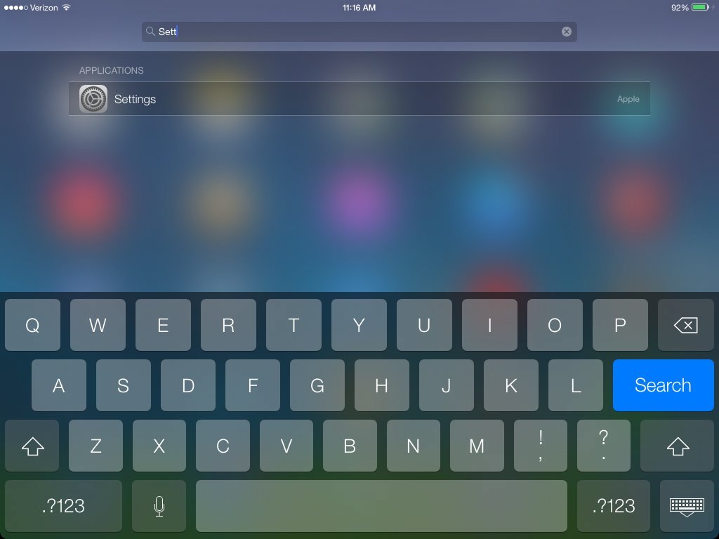iPad iOS 7 beta 2