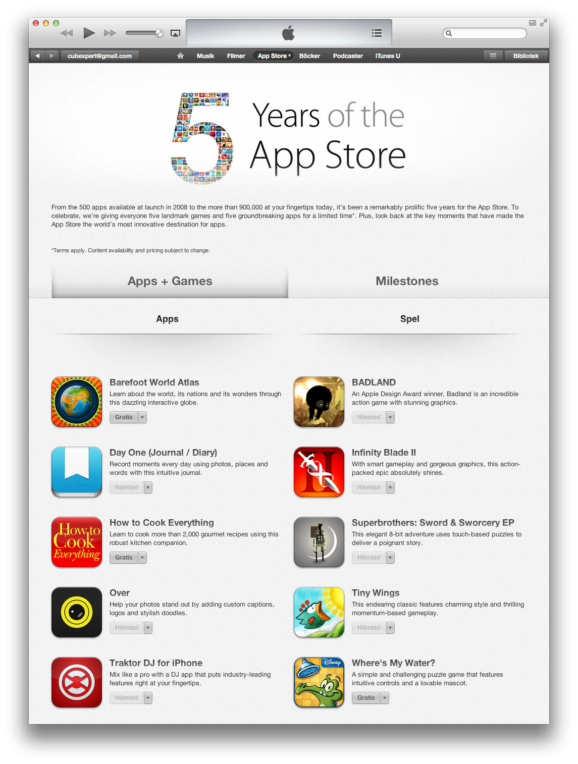 App Store five years