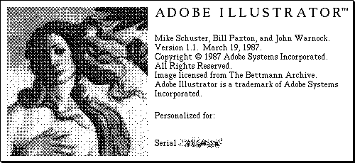 Adobe Illustrator 1.1 1987