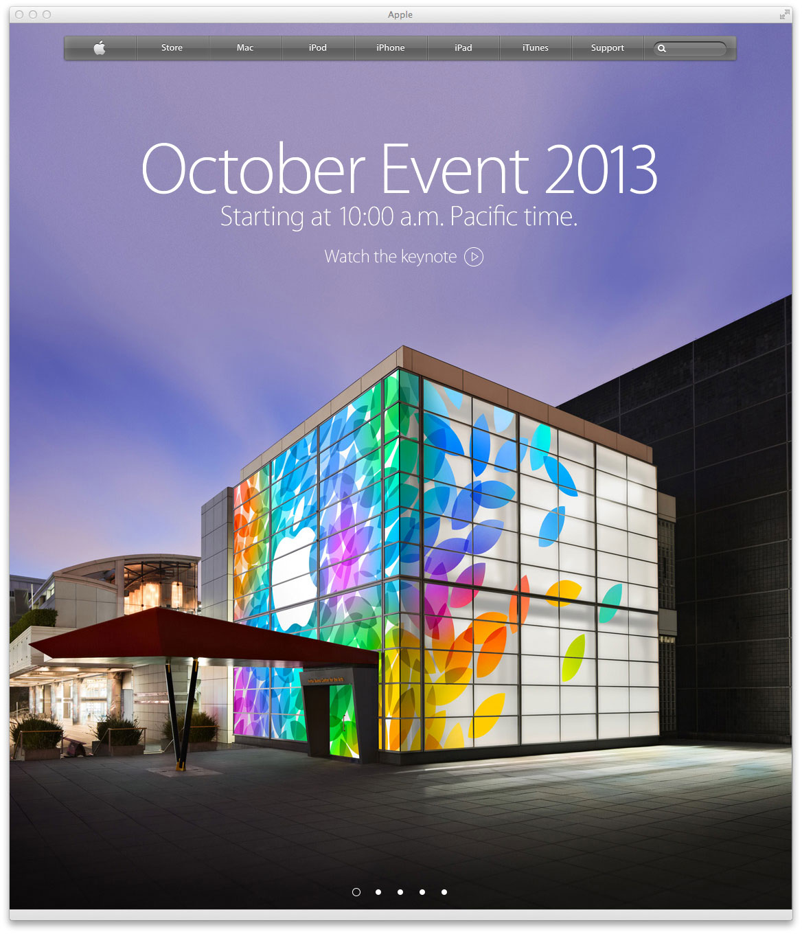 Apple october event 2013