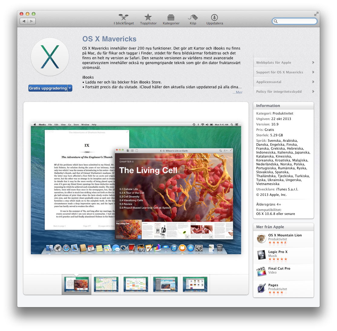 Mac App Store - OS X Mavericks