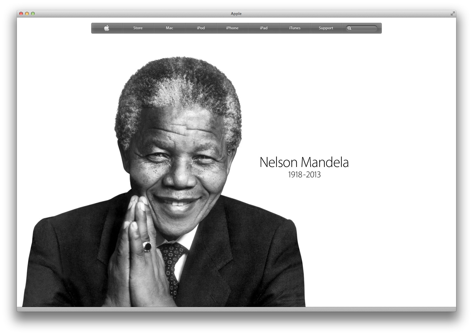 Apple Nelson Mandela