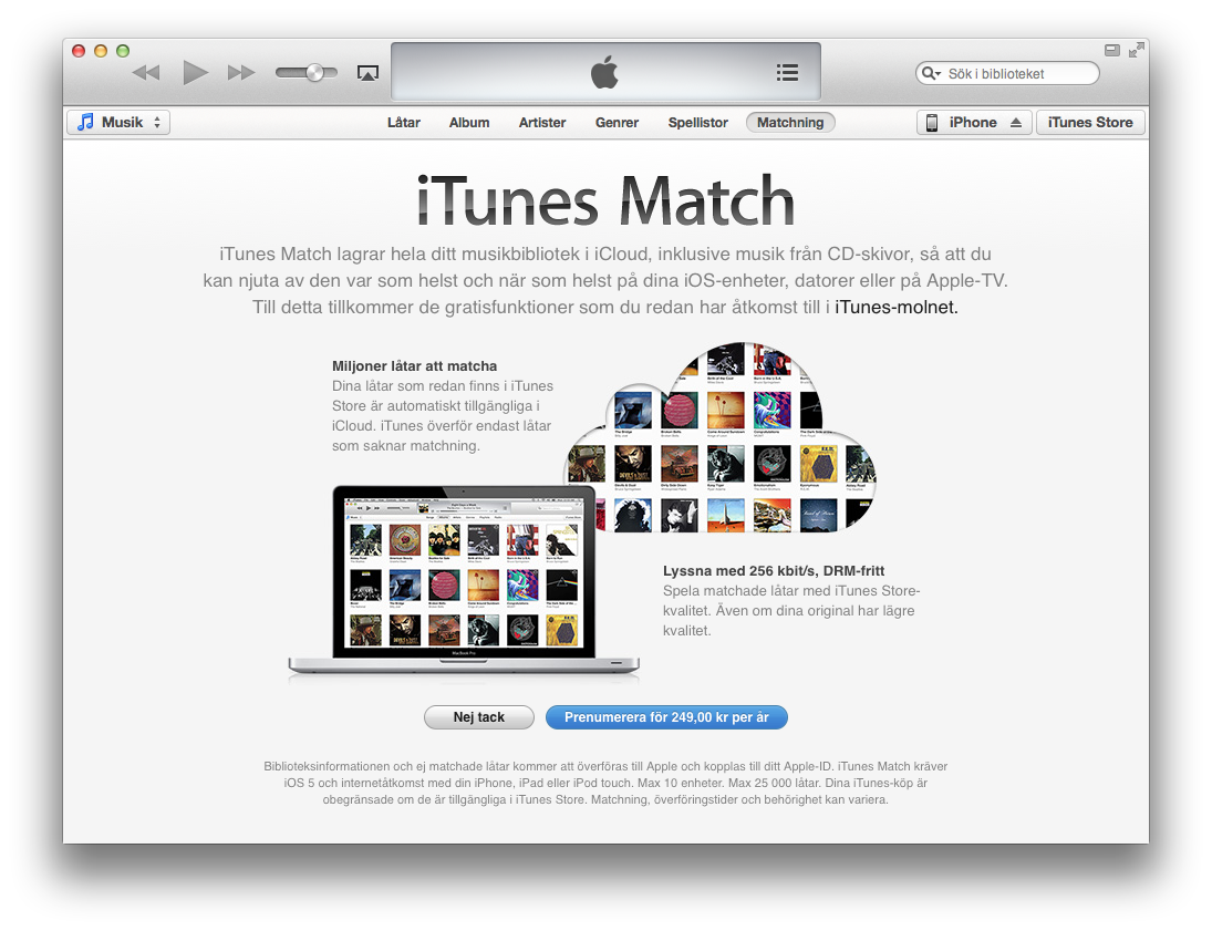 iTunes Match Sverige