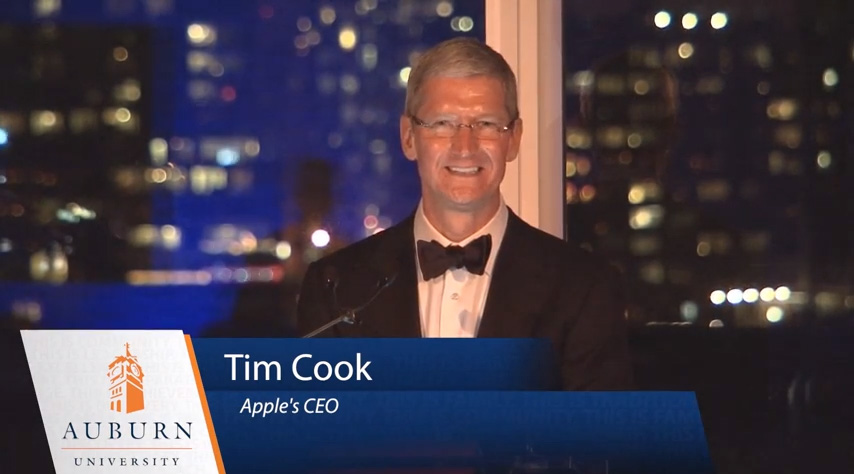 Tim Cook Auburn University