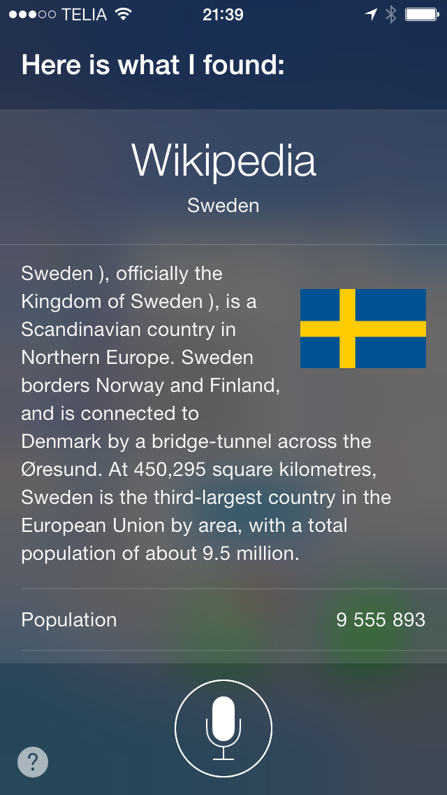 Tell me about Sweden Siri