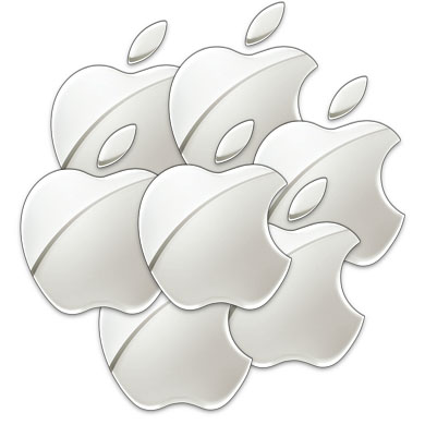 Apple logo x 7