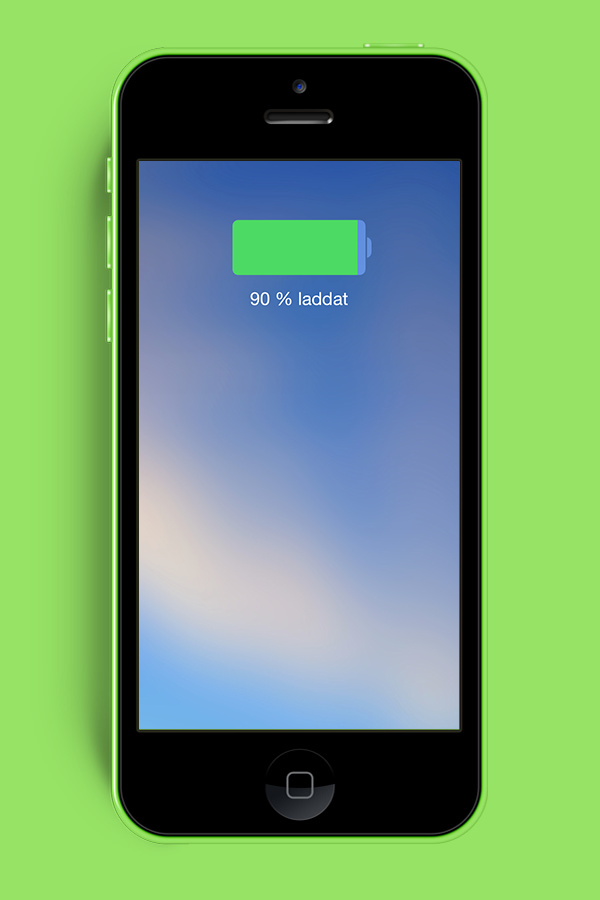 iPhone 5C battery indicator