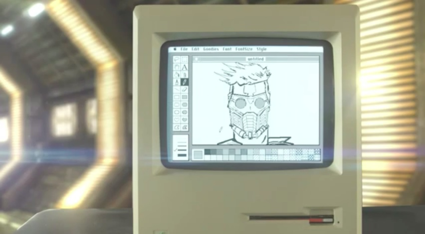Star-Lord Macintosh MacPaint