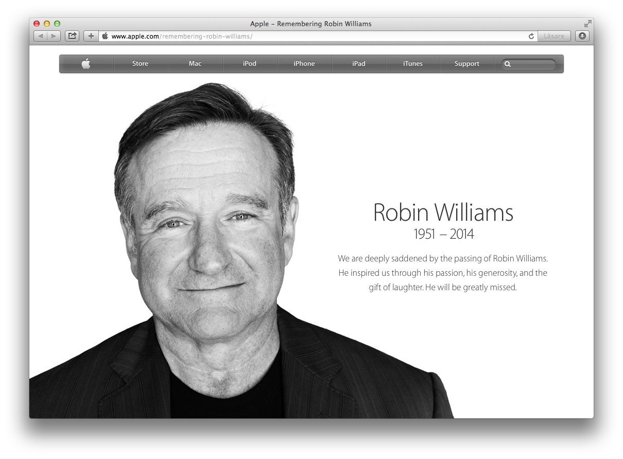 Apple Robin Williams