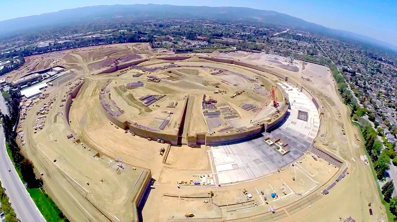 Apple Campus 2 drone flight