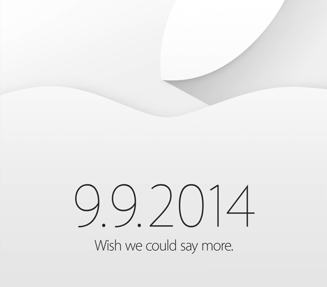 Apple Invitation 9.9.2014