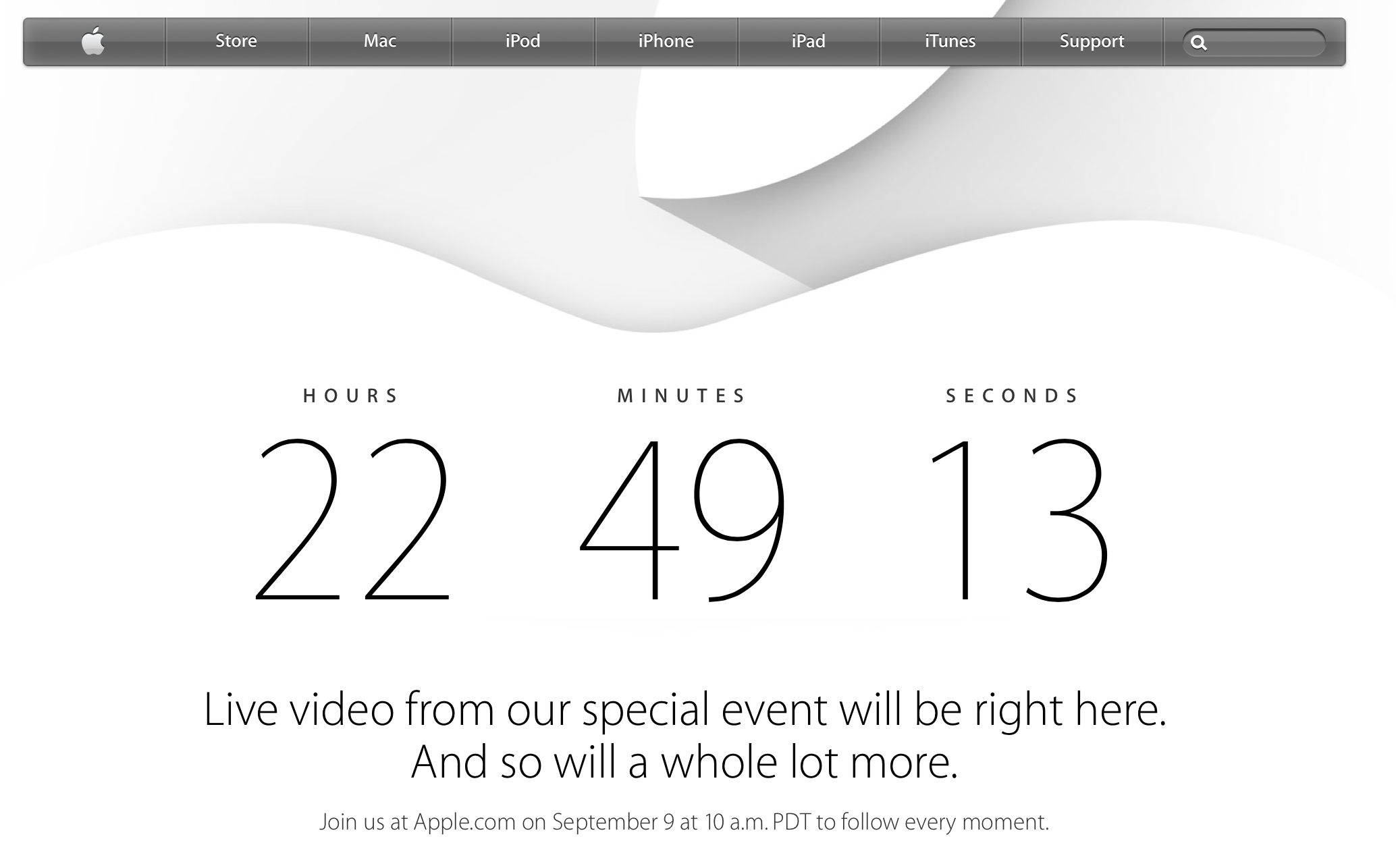 Apple live countdown
