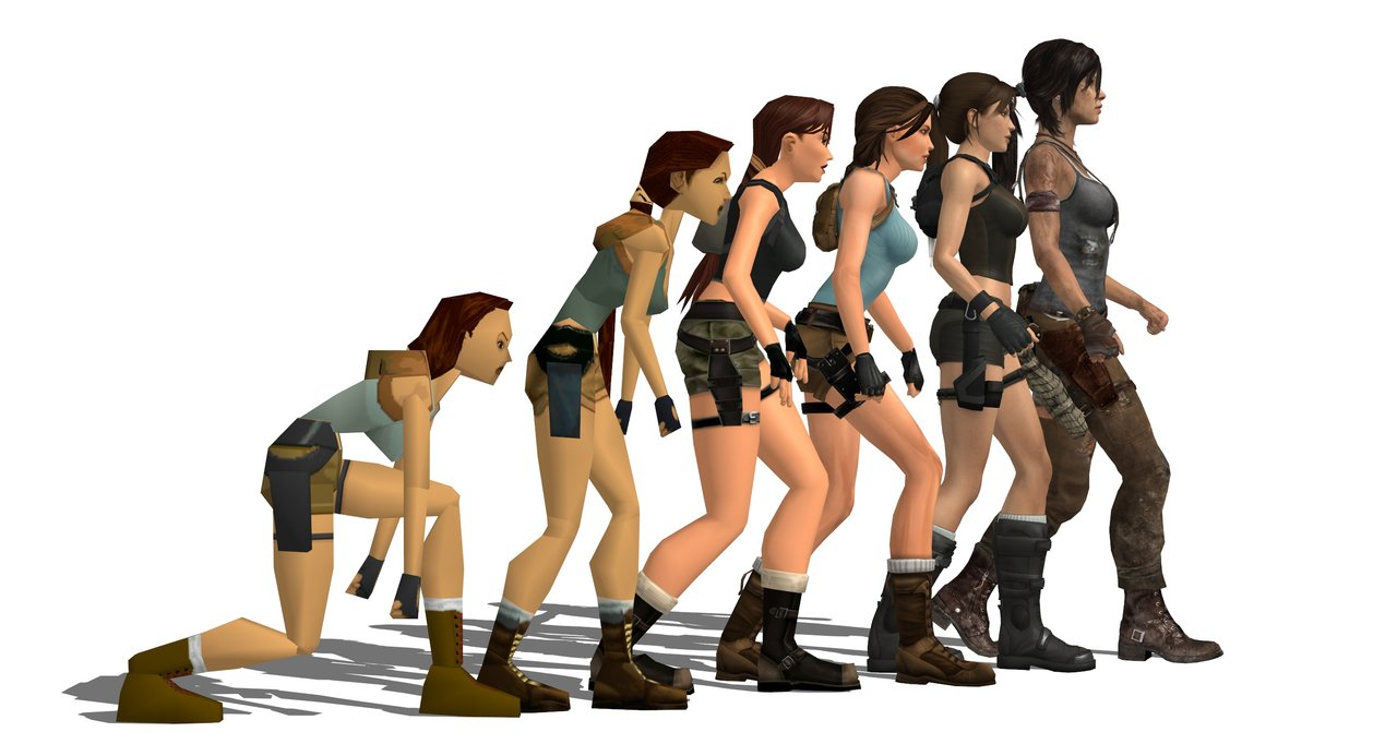 Tomb Raider evolution
