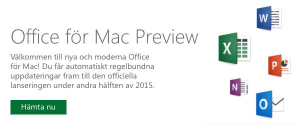 Office för Mac Preview