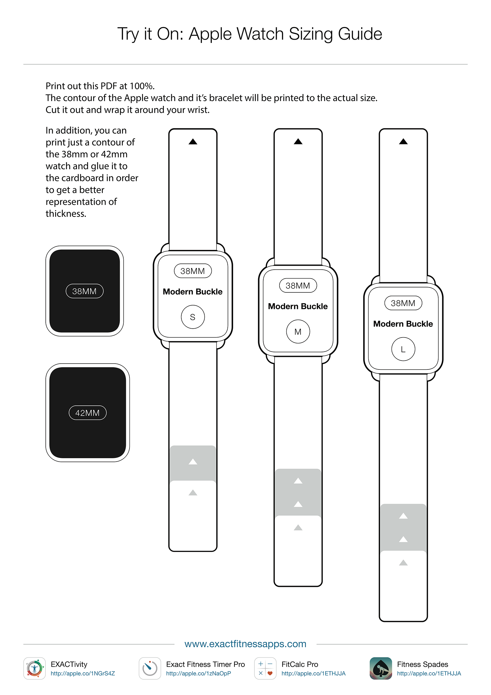 Apple Watch Sizing Comparison - Ryan P. Mack