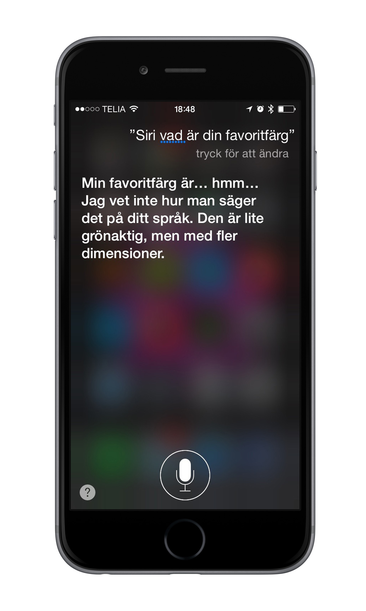 Siri svenska iPhone 6
