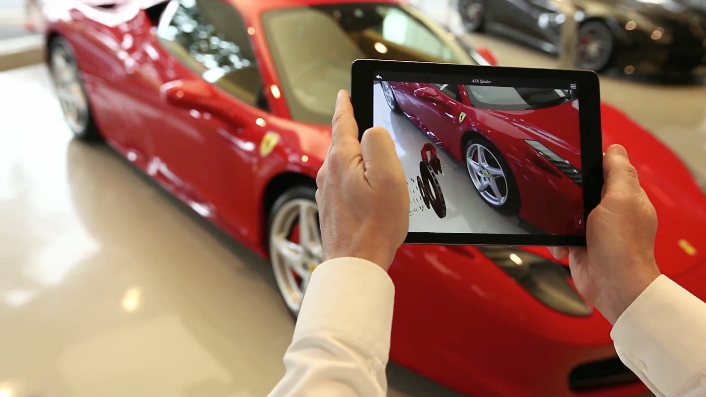 Ferrari Augmented Reality Showroom