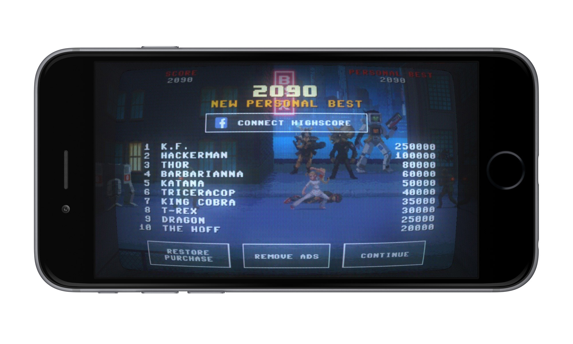 Kung Fury the game iPhone 6