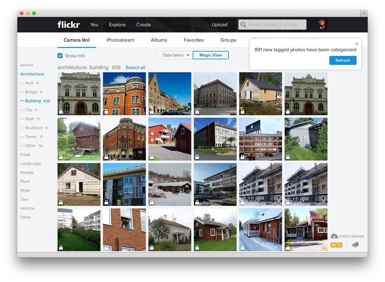 OS X Flickr magic view
