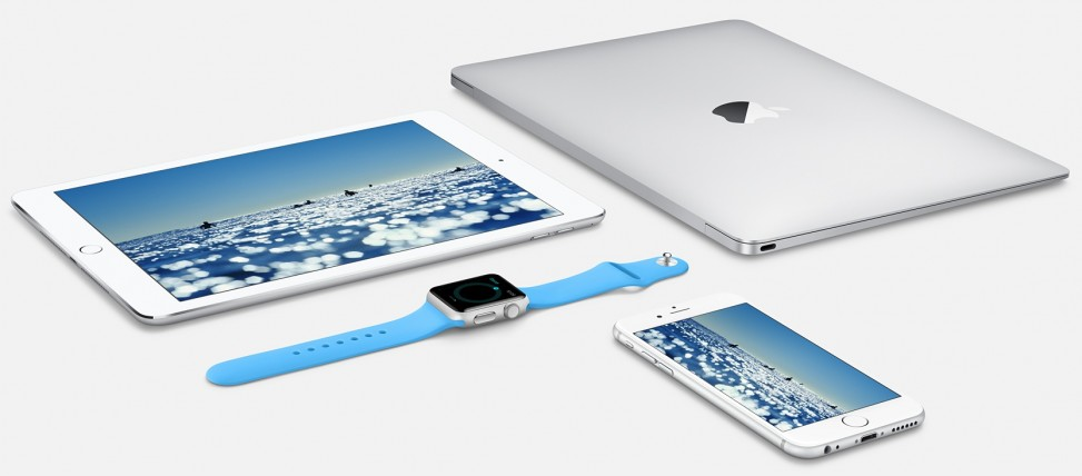 Apple Watch, iPhone, iPad, MacBook