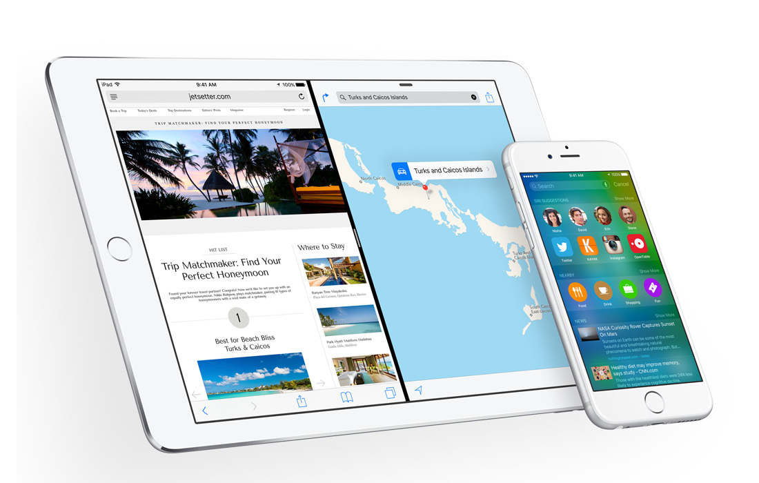 iPad Air 2 iOS 9 iPhone 6