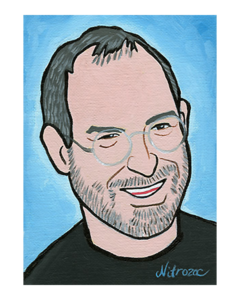 Steve Jobs painted by Nitrozac