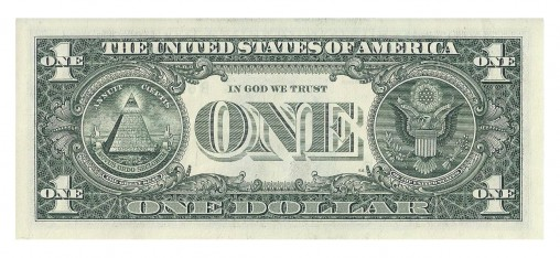 US one dollar sedel