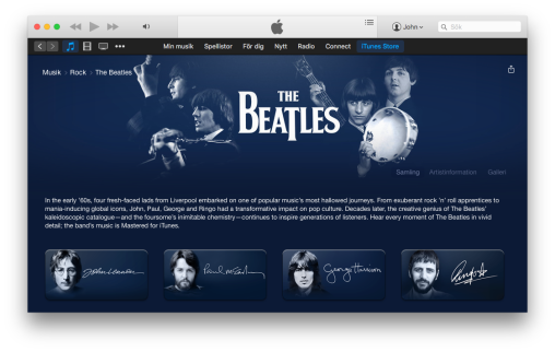 The Beatles iTunes Music Store