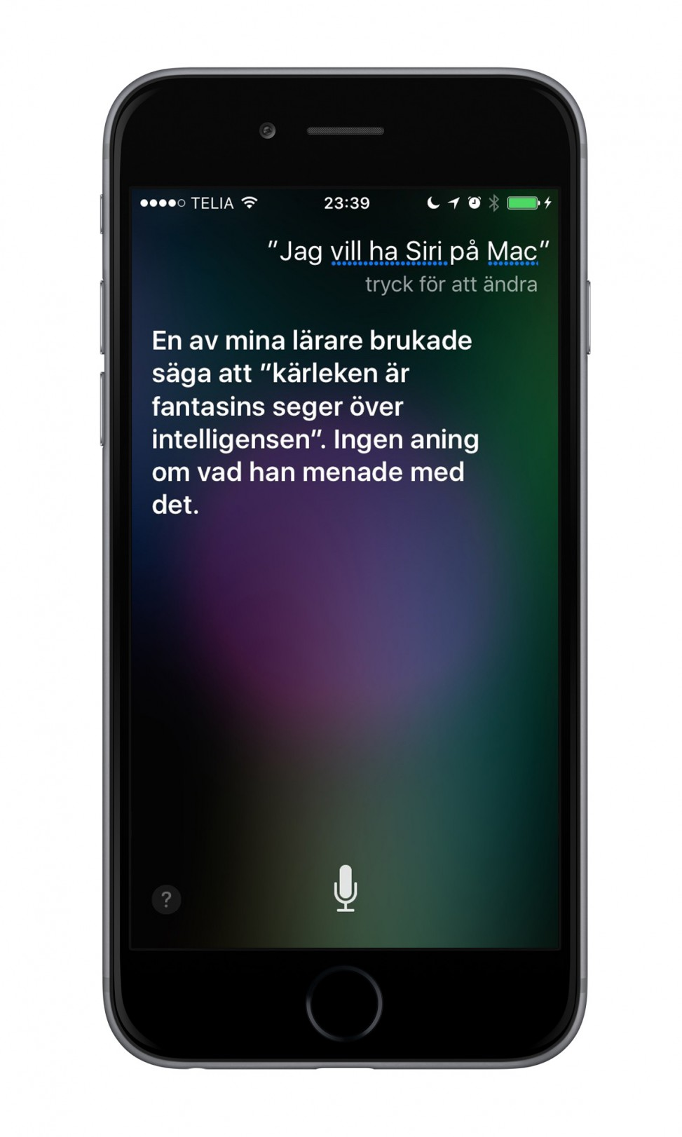 iPhone 6 Siri för Mac