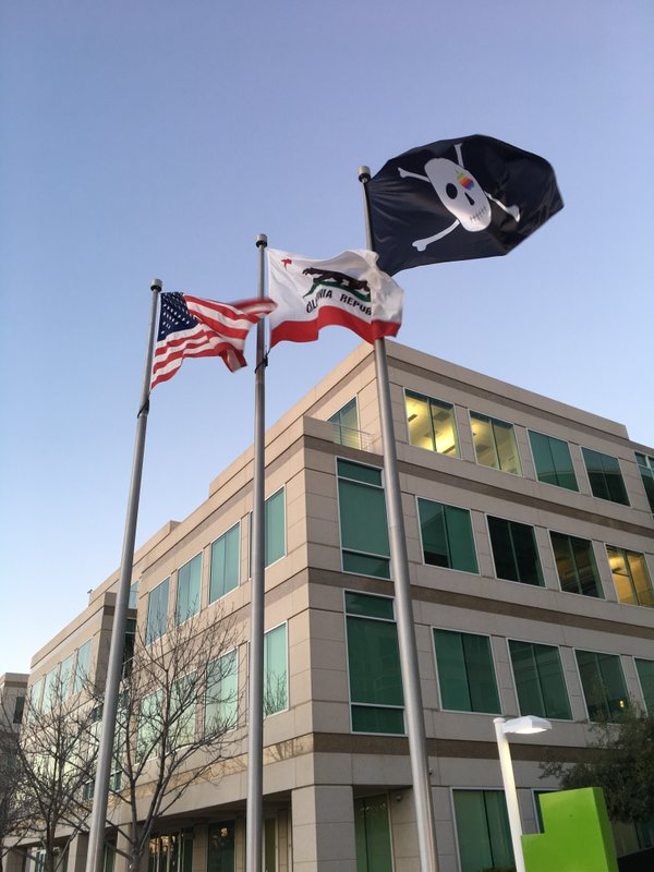 Apple Campus Pirate Flag
