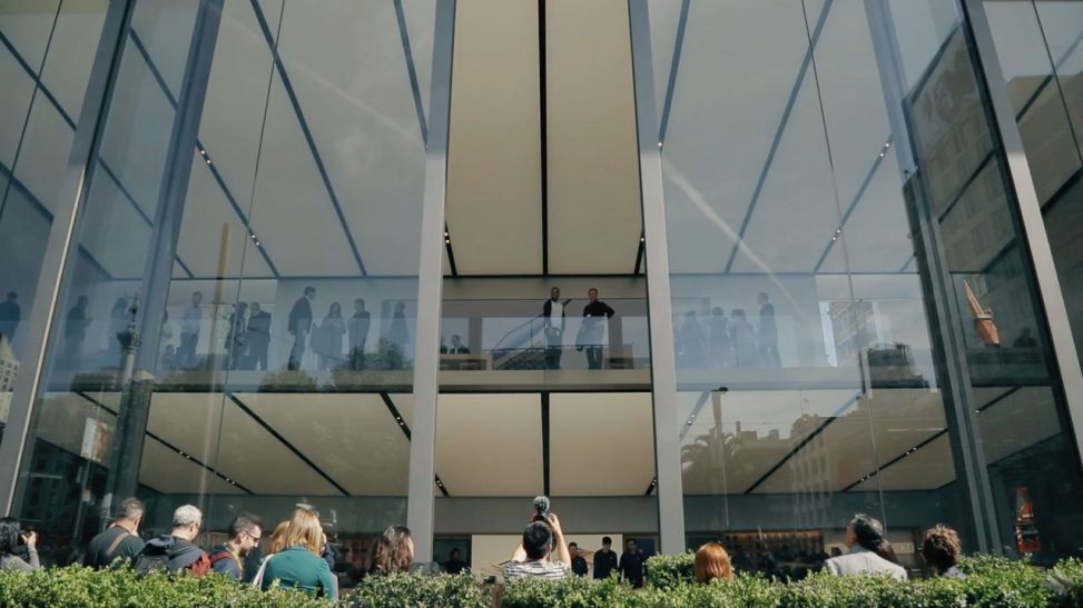 Apple Store doors