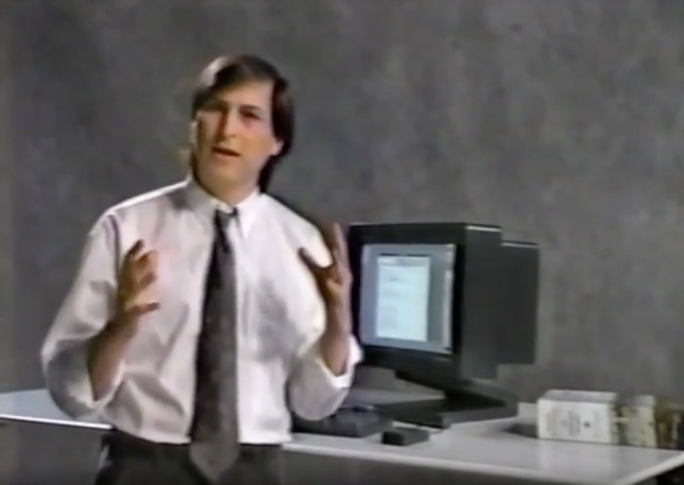 Steve Jobs demonstrerar NeXT 1988
