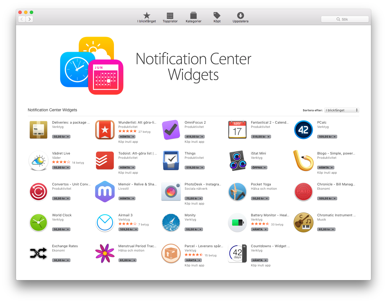 Notiscenter App Store