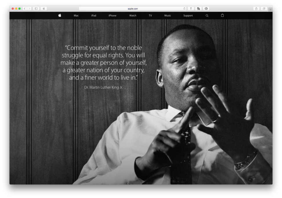 Apple Martin Luther King Day