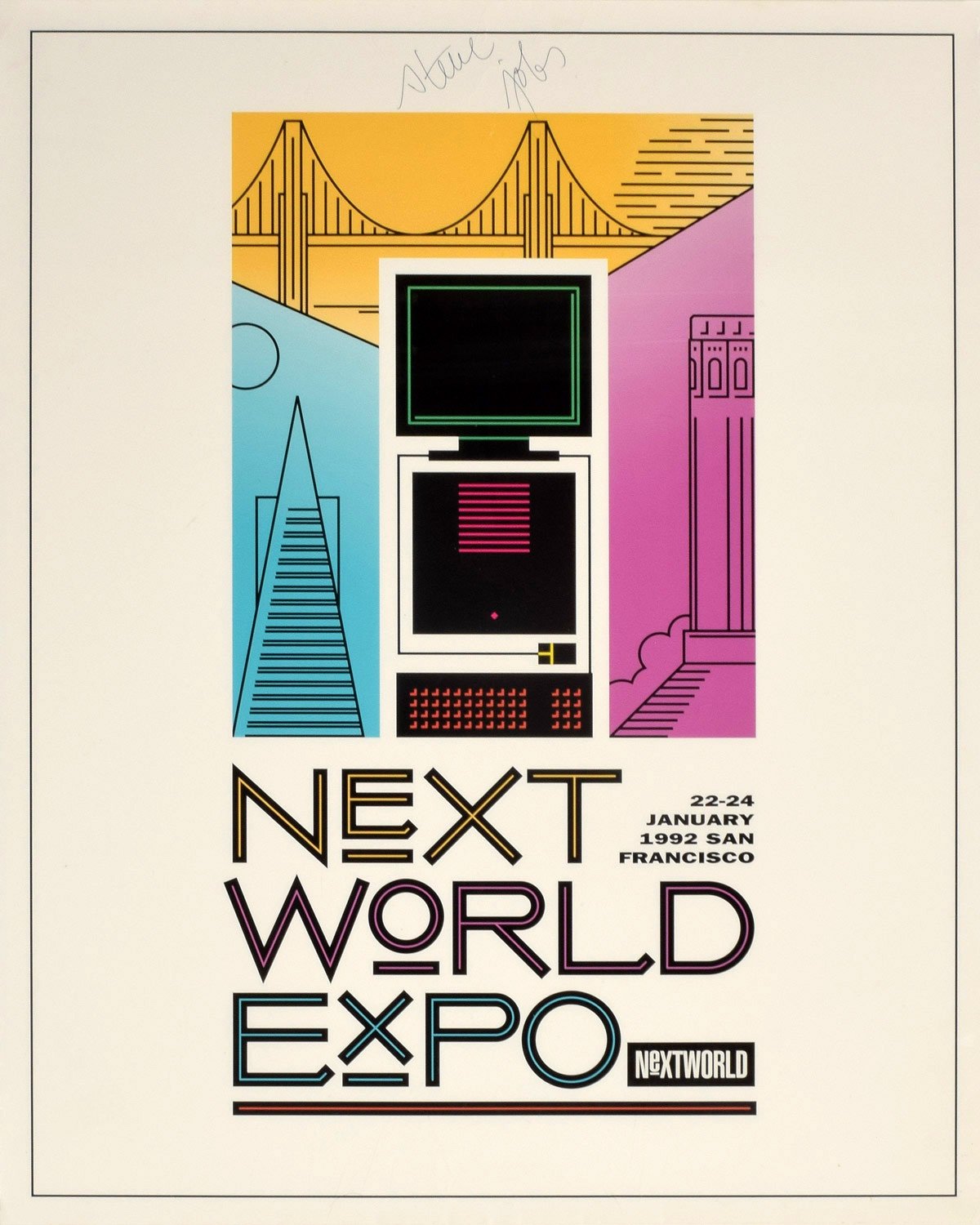 Steve Jobs NeXTWORLD poster