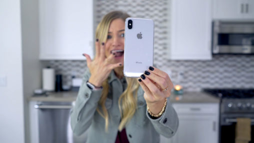 iJustine iPhone X