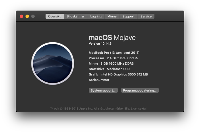 MacBook Pro Hackintosh Mojave